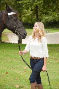 Classy country shoot with horses